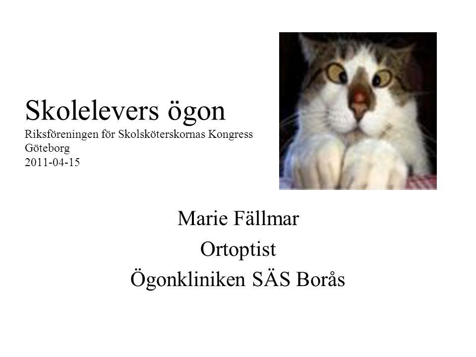 Marie Fällmar Ortoptist Ögonkliniken SÄS Borås
