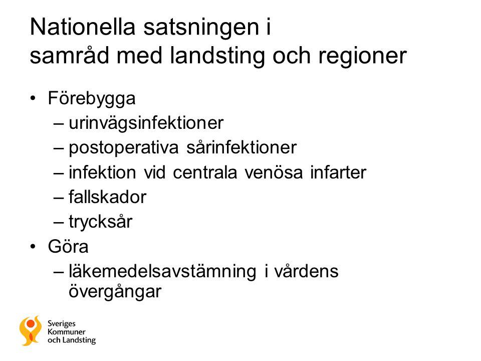 Nationella satsningen i samråd med landsting och regioner