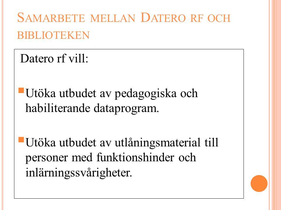 Samarbete mellan Datero rf och biblioteken