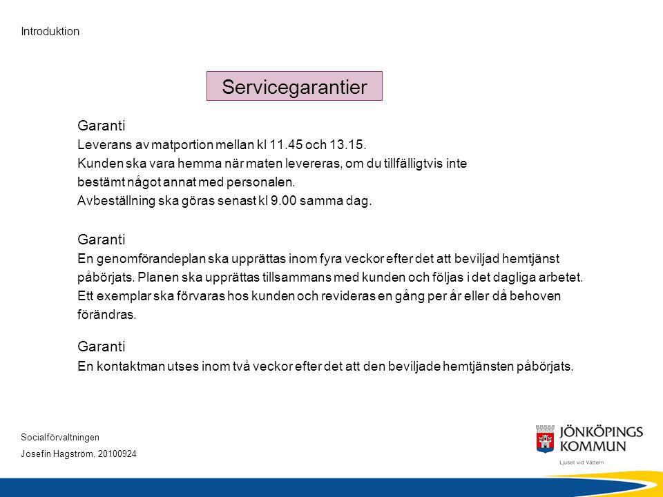 Servicegarantier Garanti