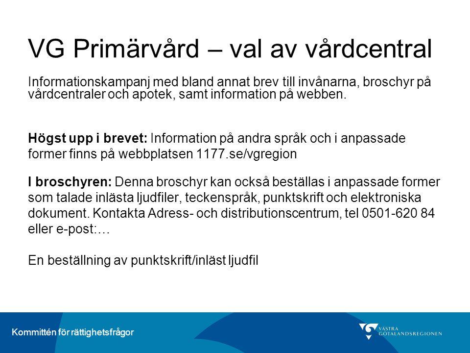 VG Primärvård – val av vårdcentral