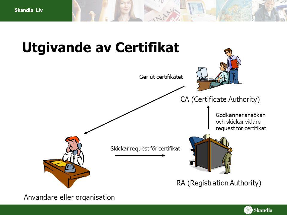 Utgivande av Certifikat