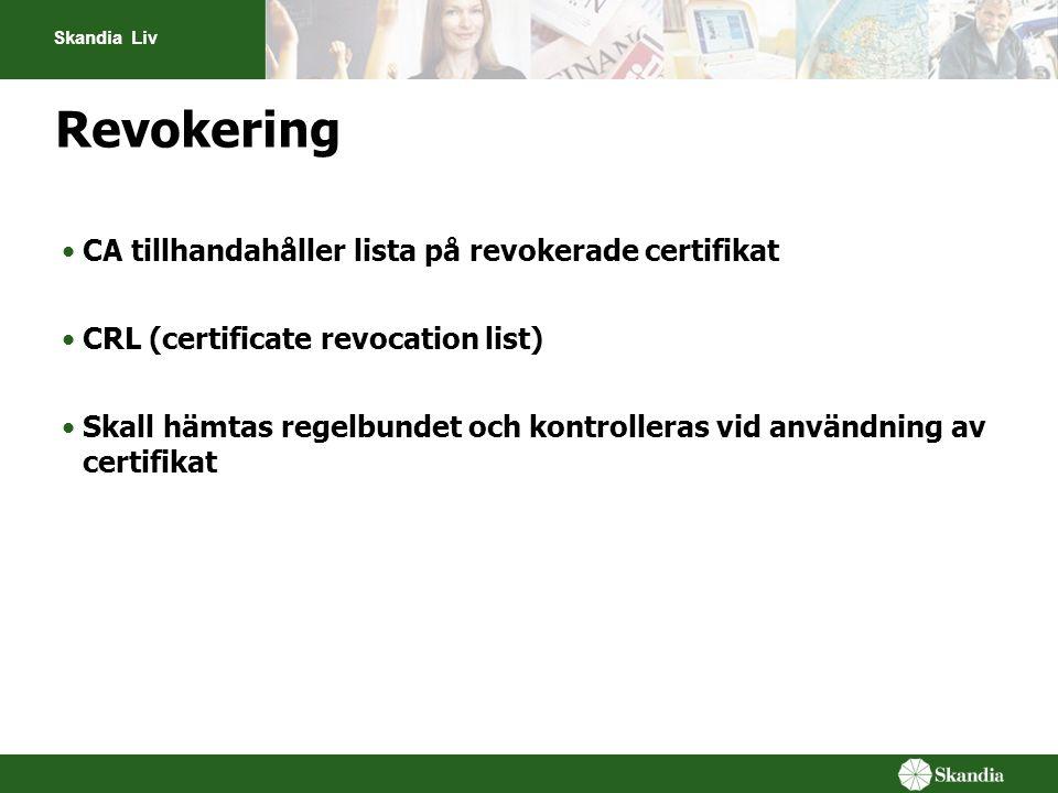 Revokering CA tillhandahåller lista på revokerade certifikat