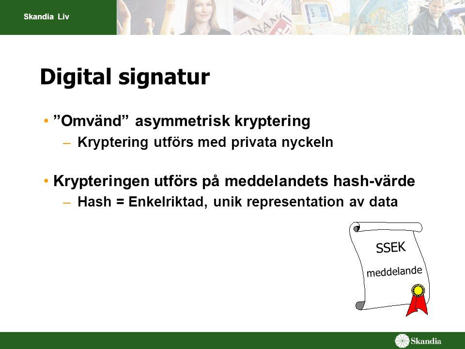 Digital signatur Omvänd asymmetrisk kryptering