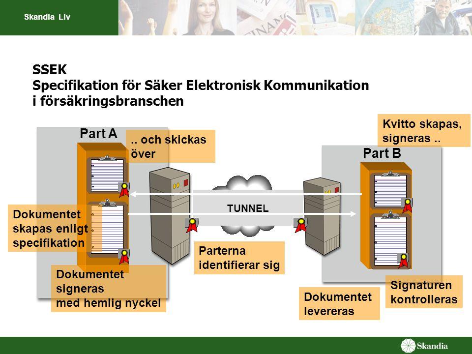 SSEK Specifikation för Säker Elektronisk Kommunikation i försäkringsbranschen
