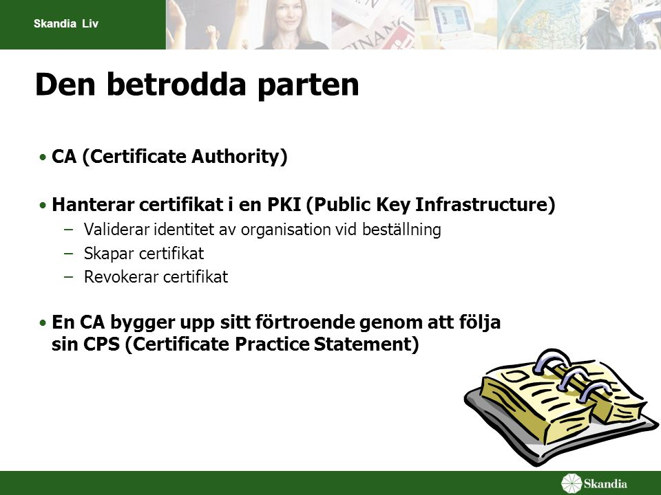 Den betrodda parten CA (Certificate Authority)