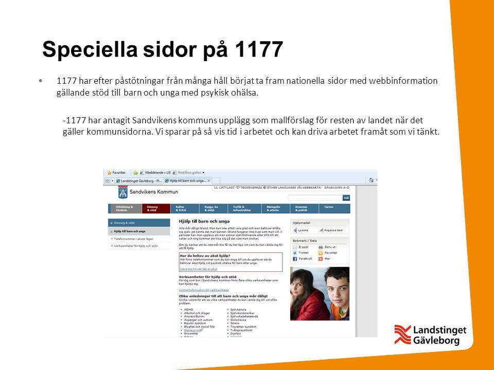 Speciella sidor på 1177