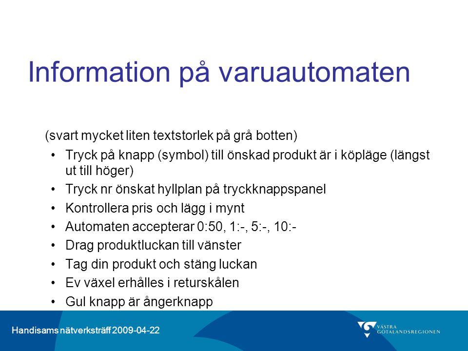 Information på varuautomaten