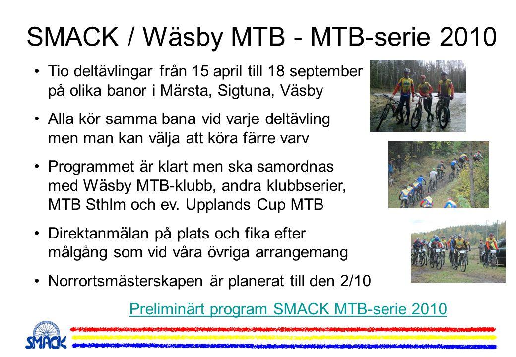SMACK / Wäsby MTB - MTB-serie 2010