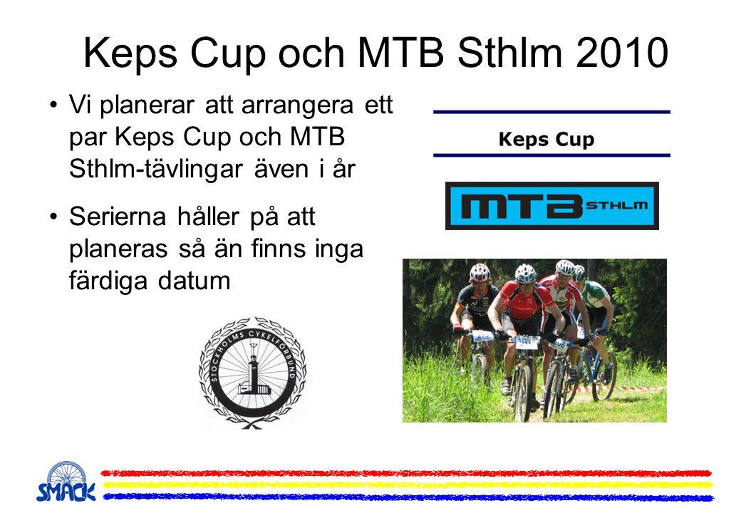 Keps Cup och MTB Sthlm 2010 Vi planerar att arrangera ett par Keps Cup och MTB Sthlm-tävlingar även i år.