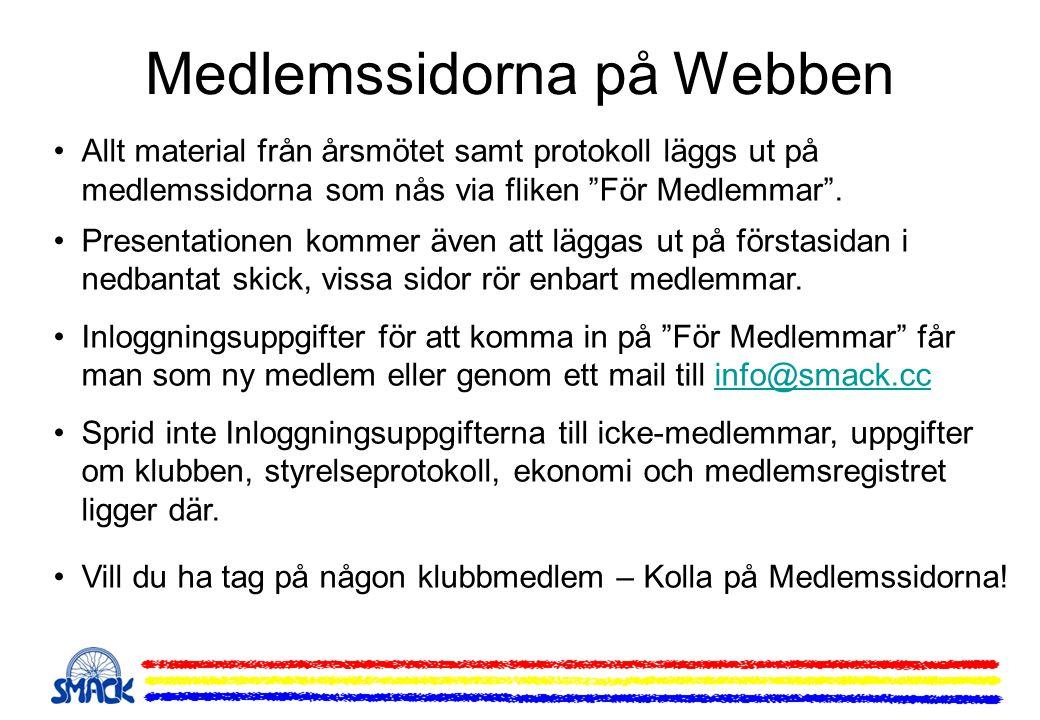 Medlemssidorna på Webben