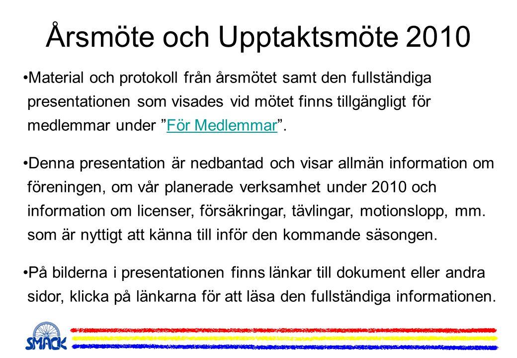 Årsmöte och Upptaktsmöte 2010