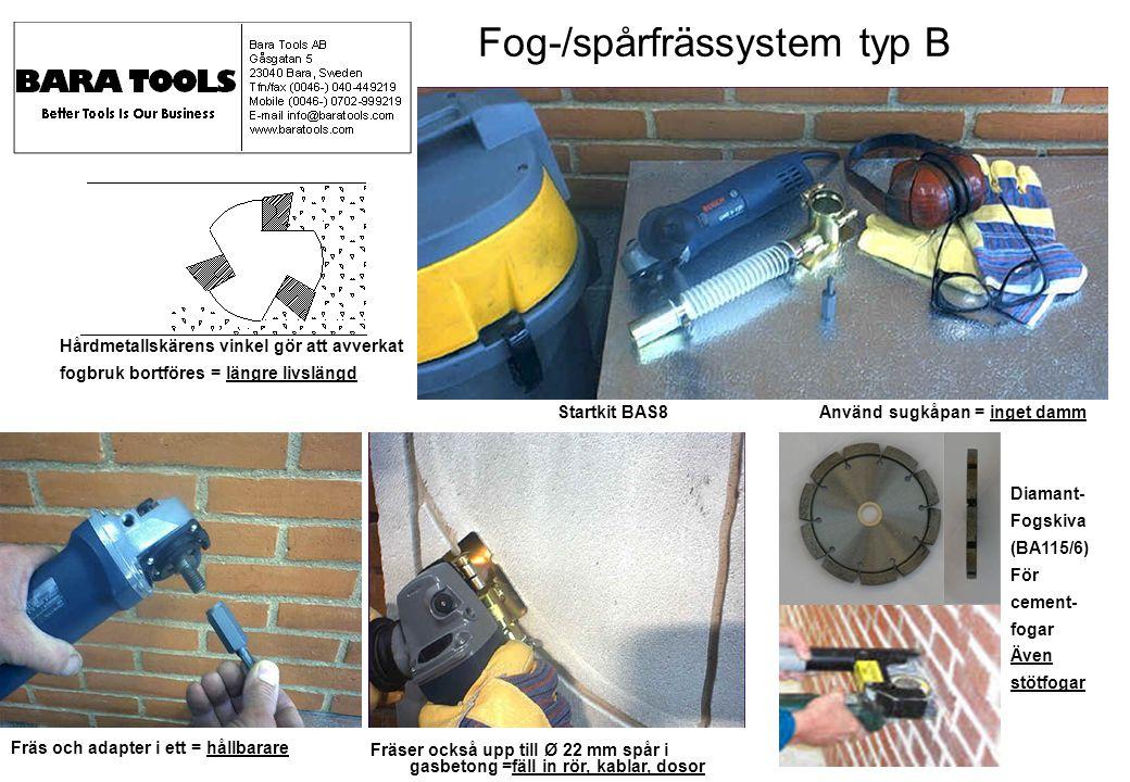 Startkit BAS8 Använd sugkåpan = inget damm