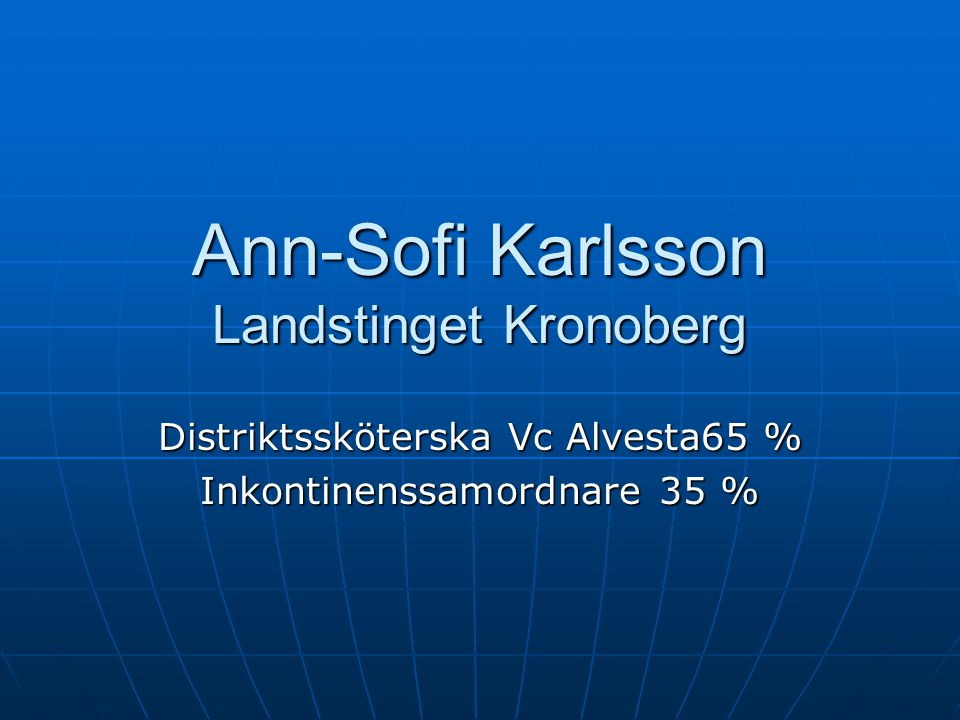 Ann-Sofi Karlsson Landstinget Kronoberg
