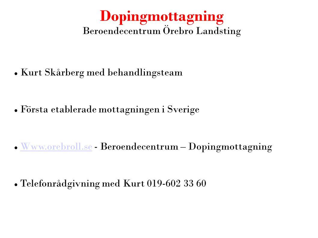 Beroendecentrum Örebro Landsting