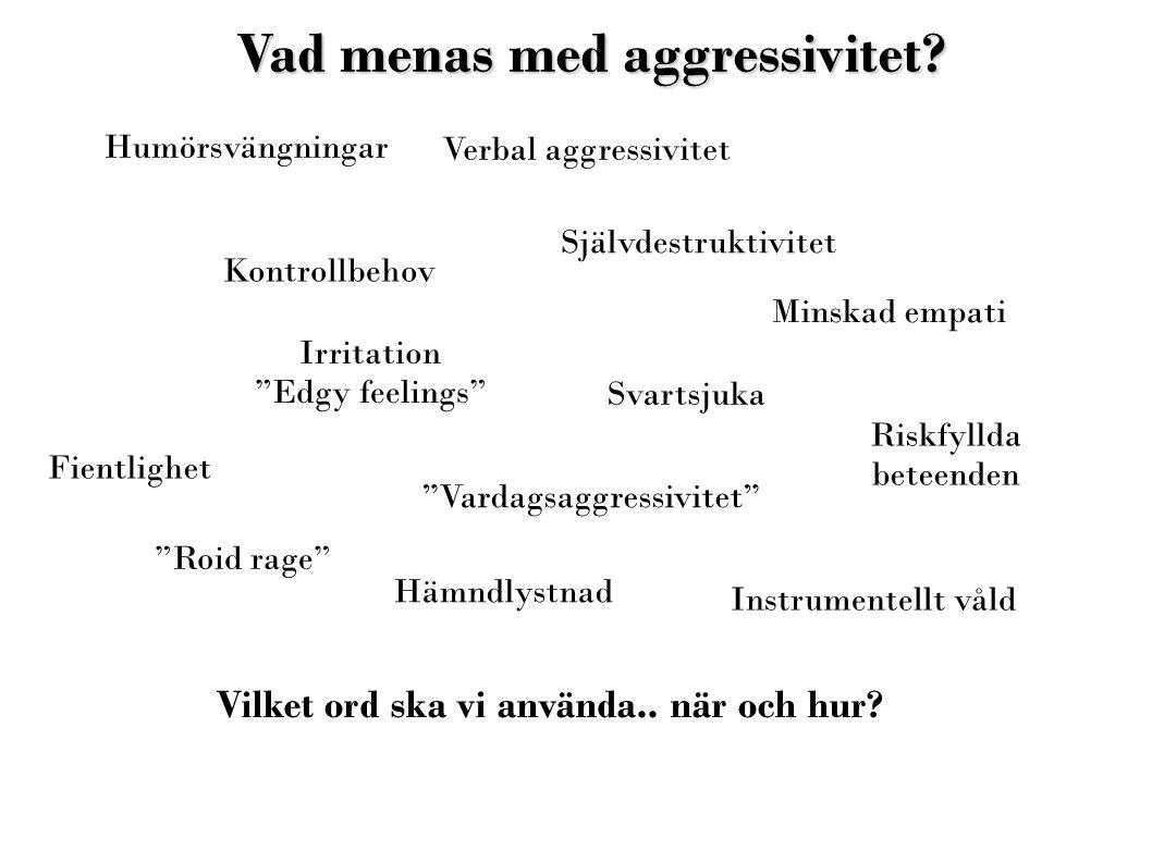 Vad menas med aggressivitet