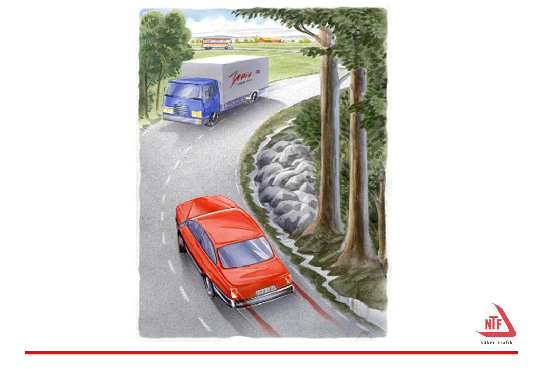 Bilderna illustrerar vår oförmåga att uppleva vissa risker i trafiken