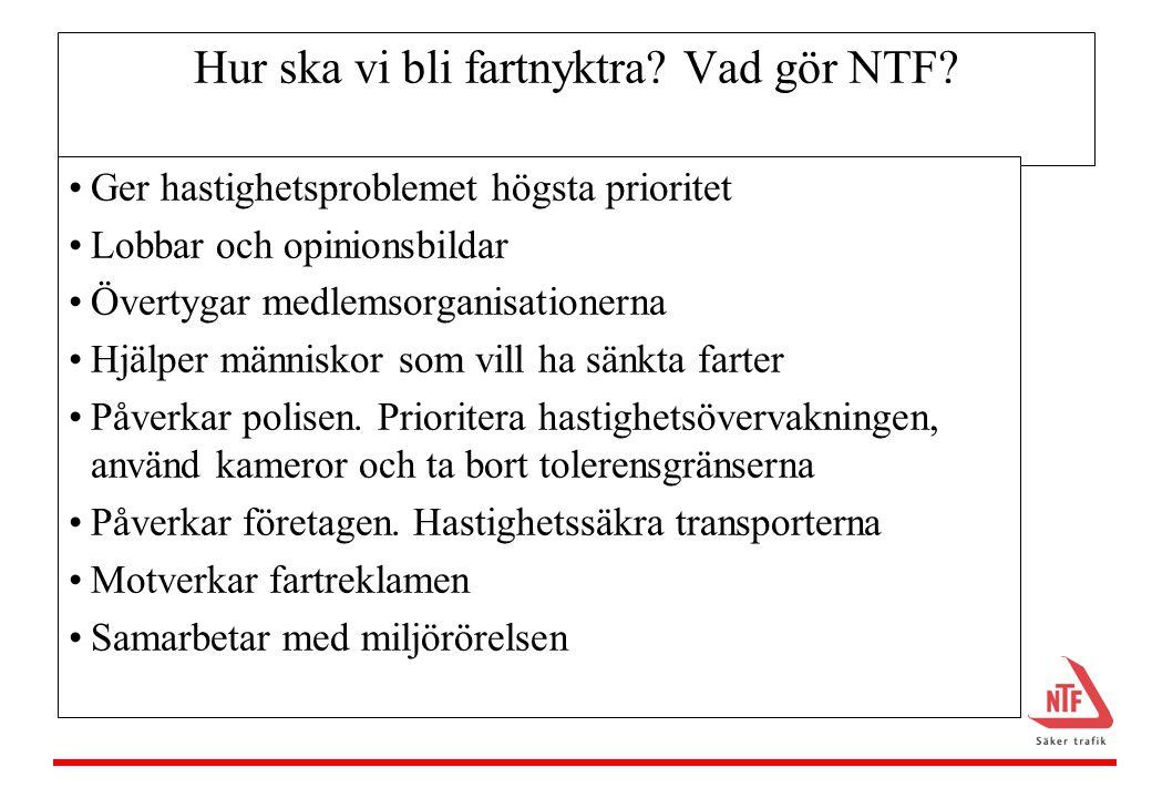 Hur ska vi bli fartnyktra Vad gör NTF