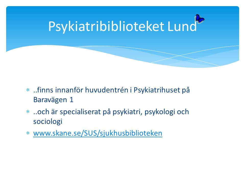 Psykiatribiblioteket Lund