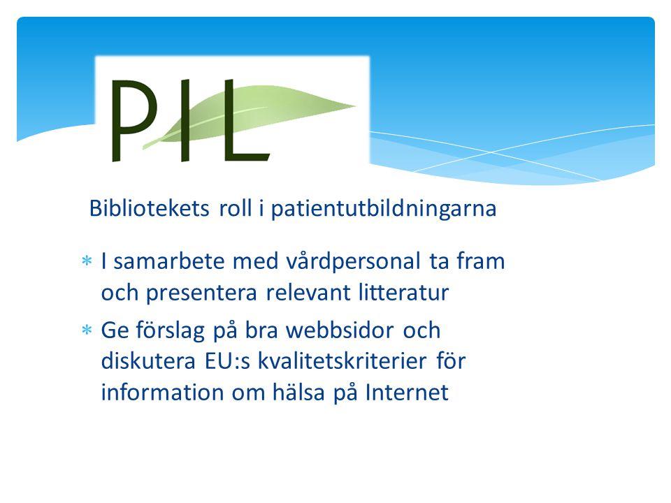 Bibliotekets roll i patientutbildningarna