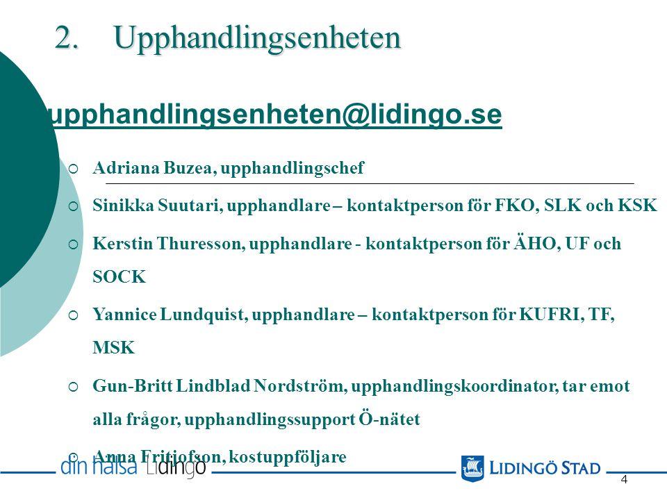 2. Upphandlingsenheten upphandlingsenheten@lidingo.se