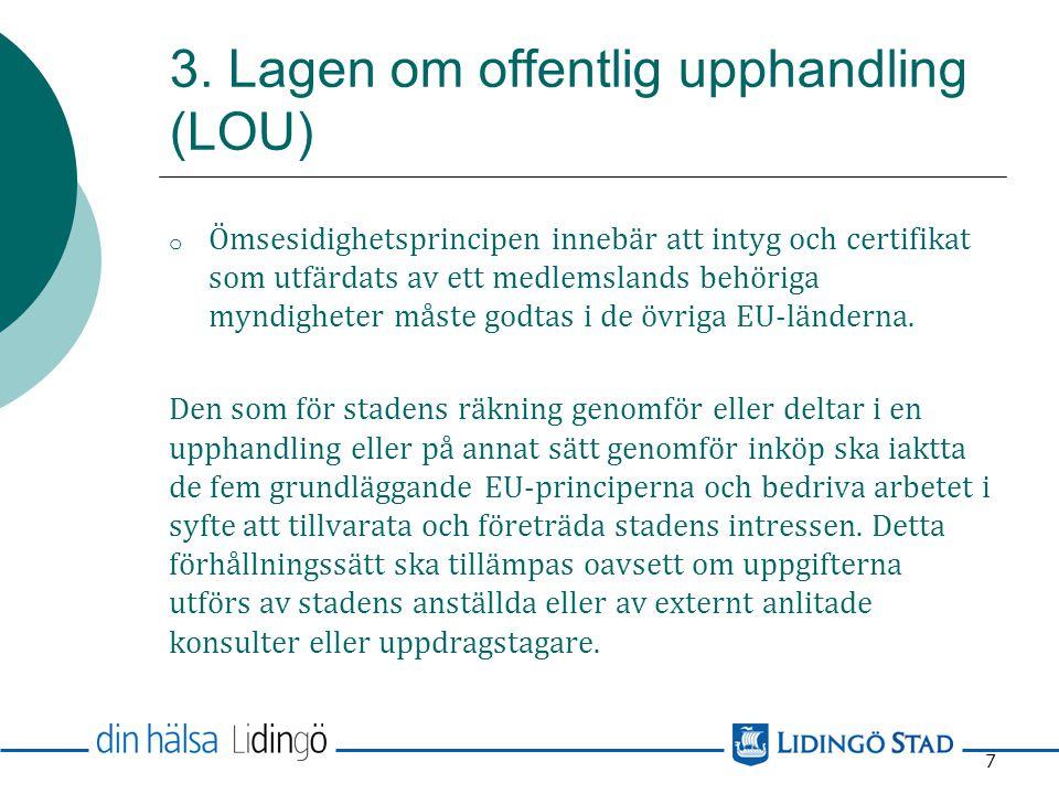 3. Lagen om offentlig upphandling (LOU)