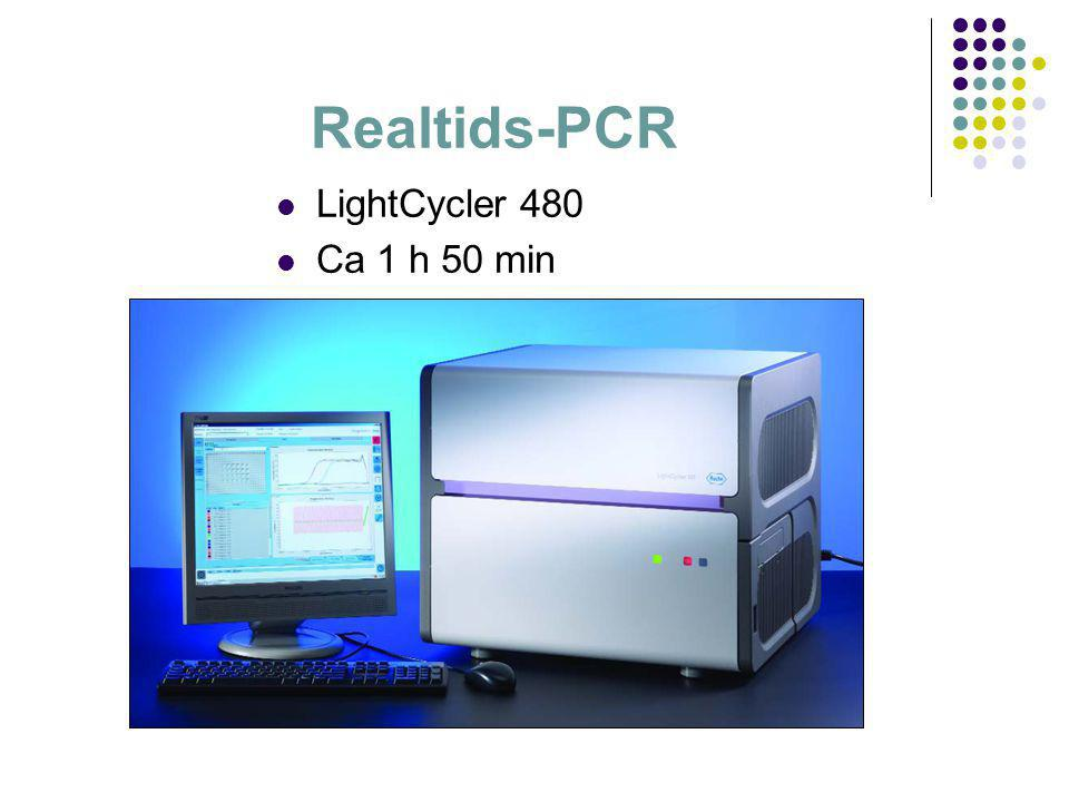 Realtids-PCR LightCycler 480 Ca 1 h 50 min