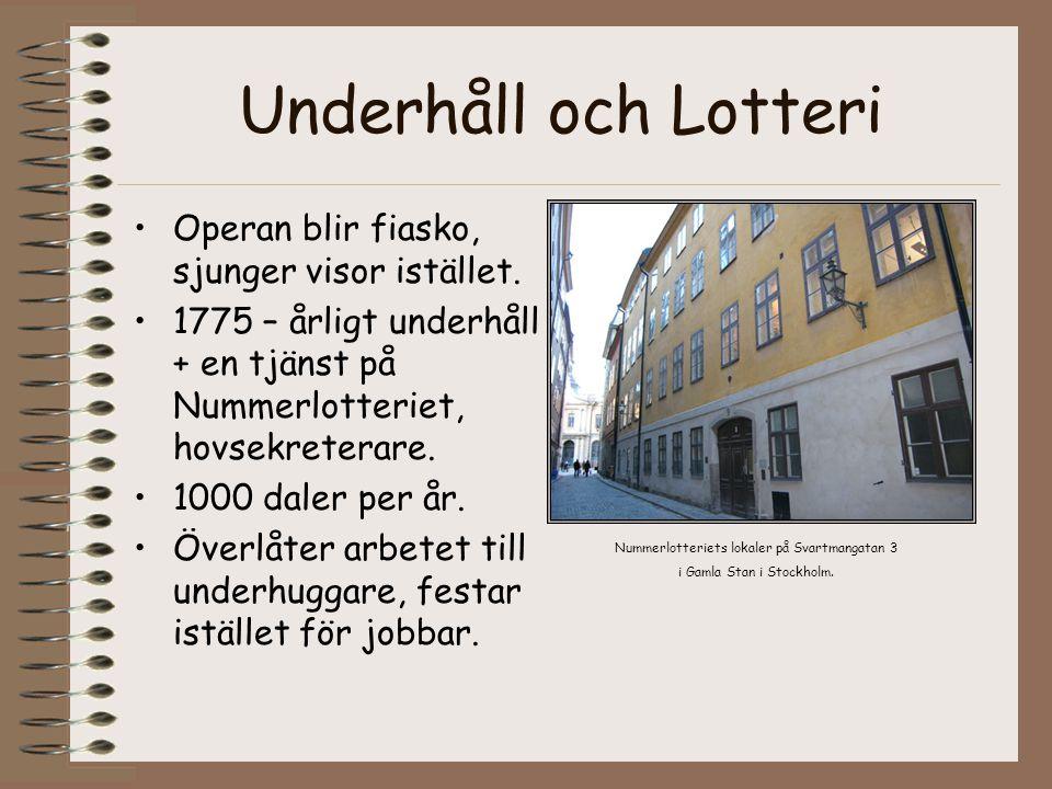 Underhåll och Lotteri Operan blir fiasko, sjunger visor istället.