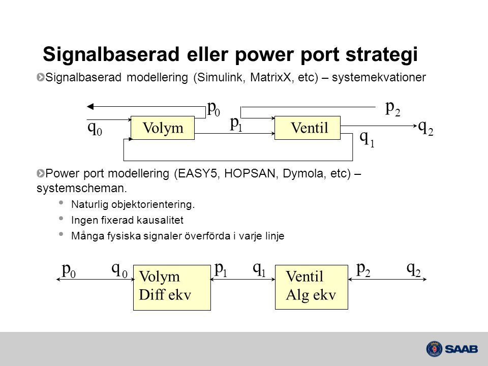 Signalbaserad eller power port strategi