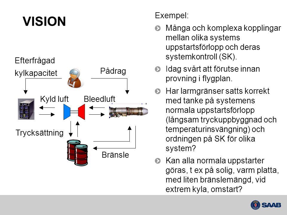 Exempel: Många och komplexa kopplingar mellan olika systems uppstartsförlopp och deras systemkontroll (SK).