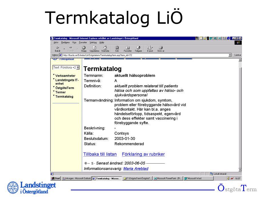 Termkatalog LiÖ ÖstgötaTerm
