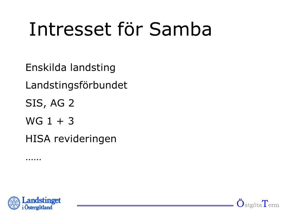 Intresset för Samba Enskilda landsting Landstingsförbundet SIS, AG 2