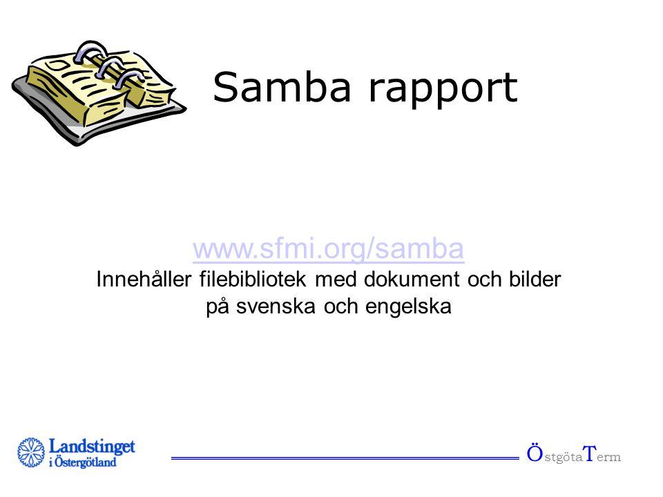 Samba rapport www.sfmi.org/samba