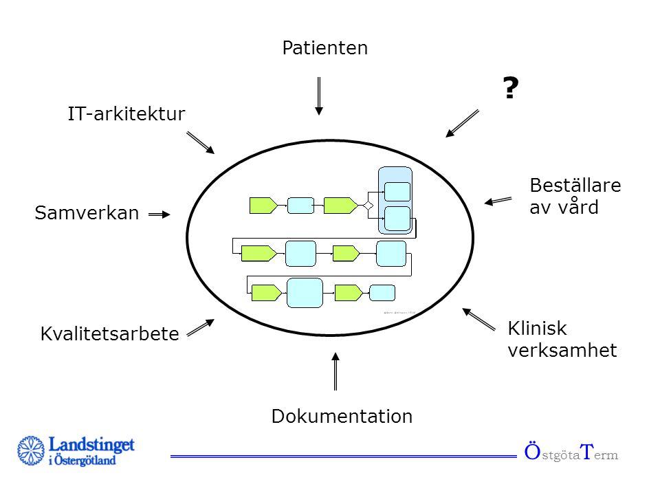 Process ÖstgötaTerm Patienten IT-arkitektur Beställare av vård
