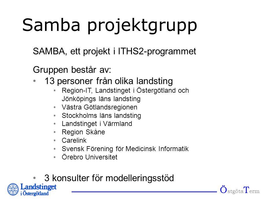 Samba projektgrupp SAMBA, ett projekt i ITHS2-programmet