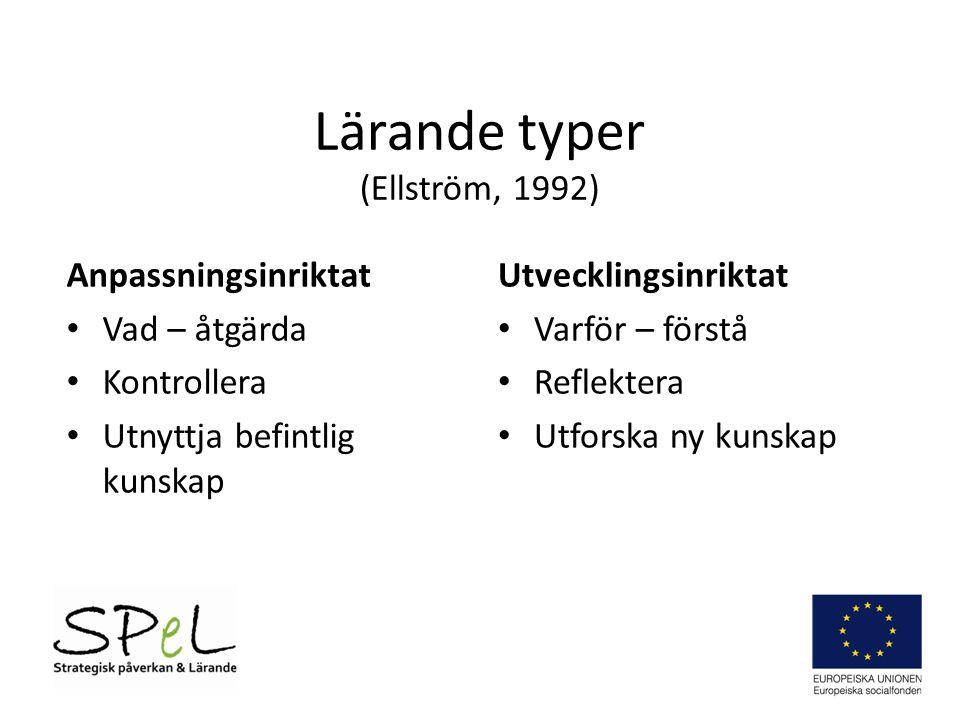 Lärande typer (Ellström, 1992)