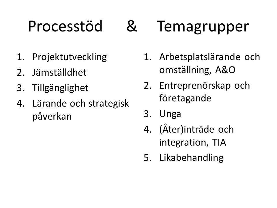 Processtöd & Temagrupper