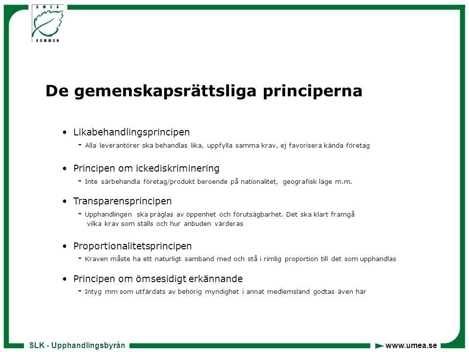 De gemenskapsrättsliga principerna