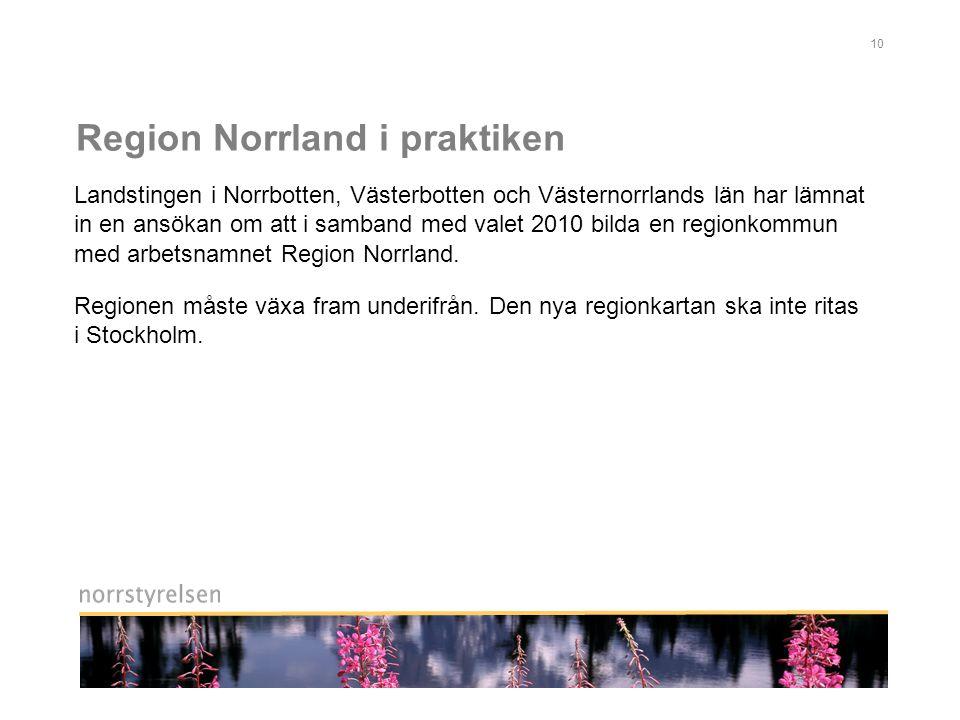 Region Norrland i praktiken