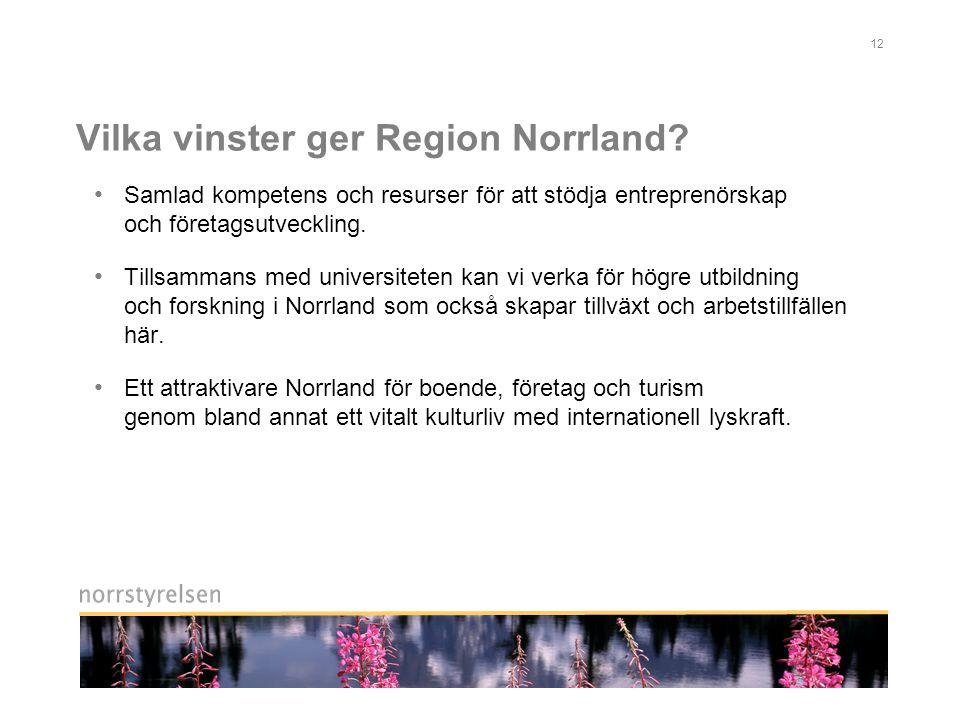 Vilka vinster ger Region Norrland