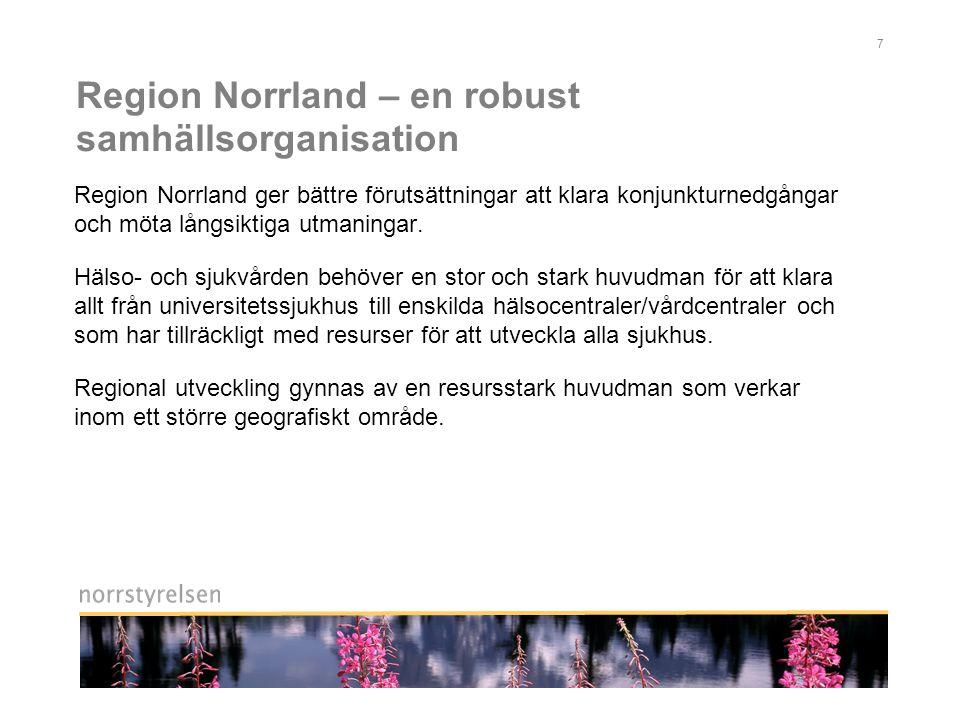 Region Norrland – en robust samhällsorganisation