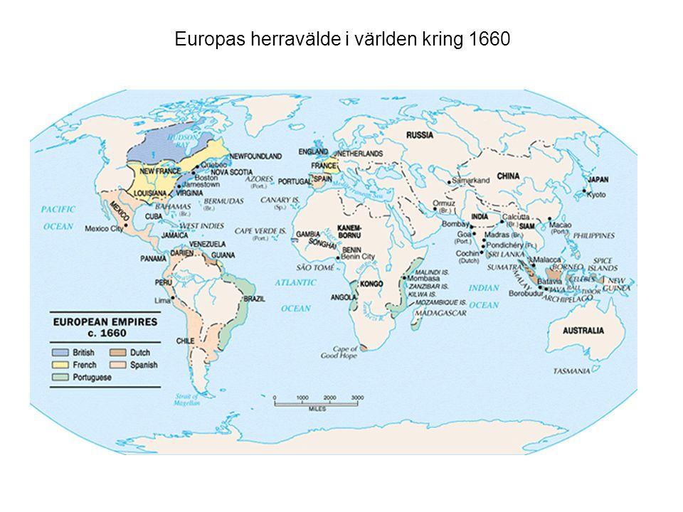 Europas herravälde i världen kring 1660