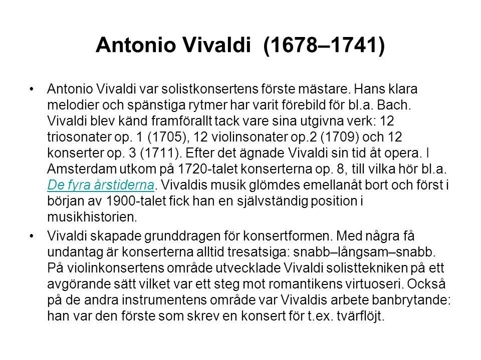Antonio Vivaldi (1678–1741)