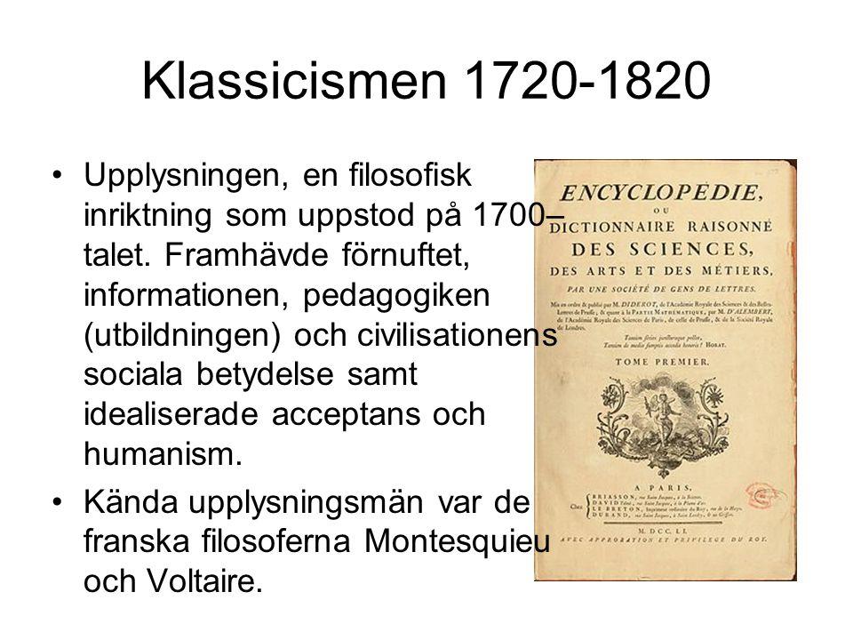 Klassicismen 1720-1820