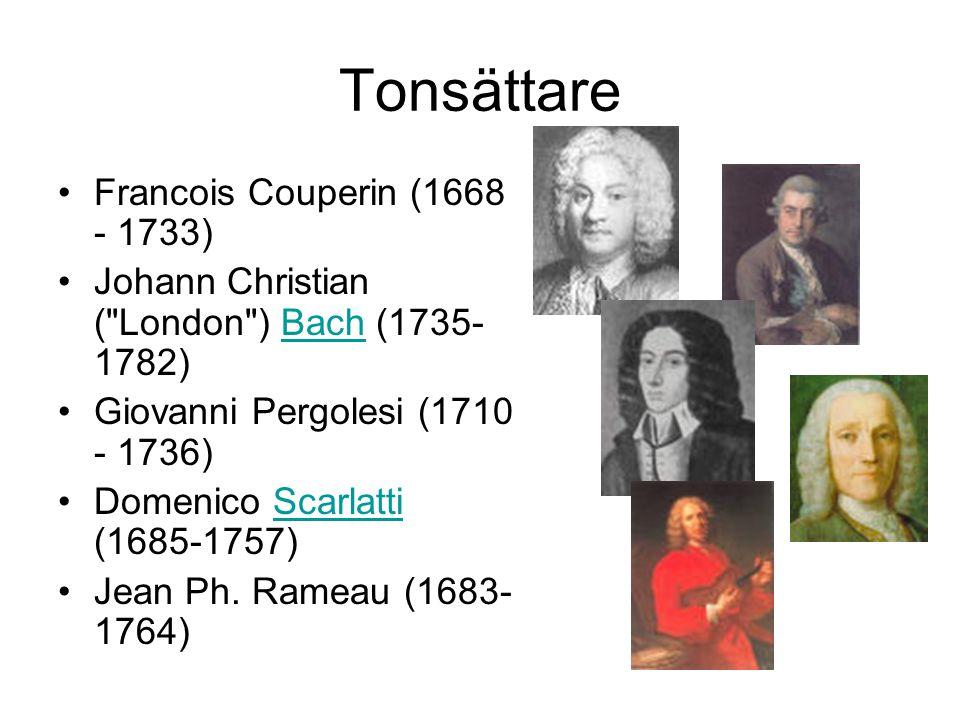 Tonsättare Francois Couperin (1668 - 1733)