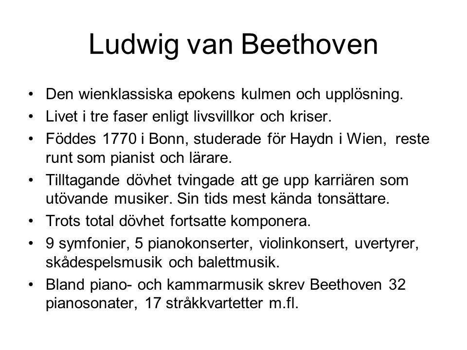 Ludwig van Beethoven Den wienklassiska epokens kulmen och upplösning.