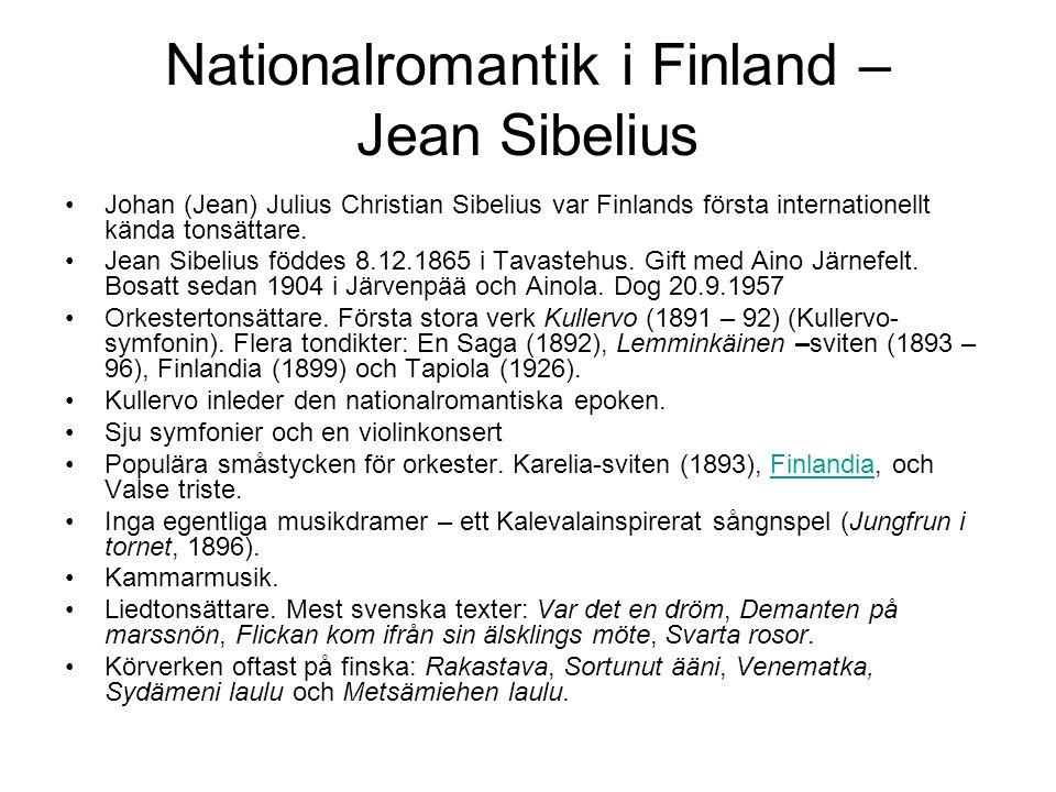 Nationalromantik i Finland – Jean Sibelius