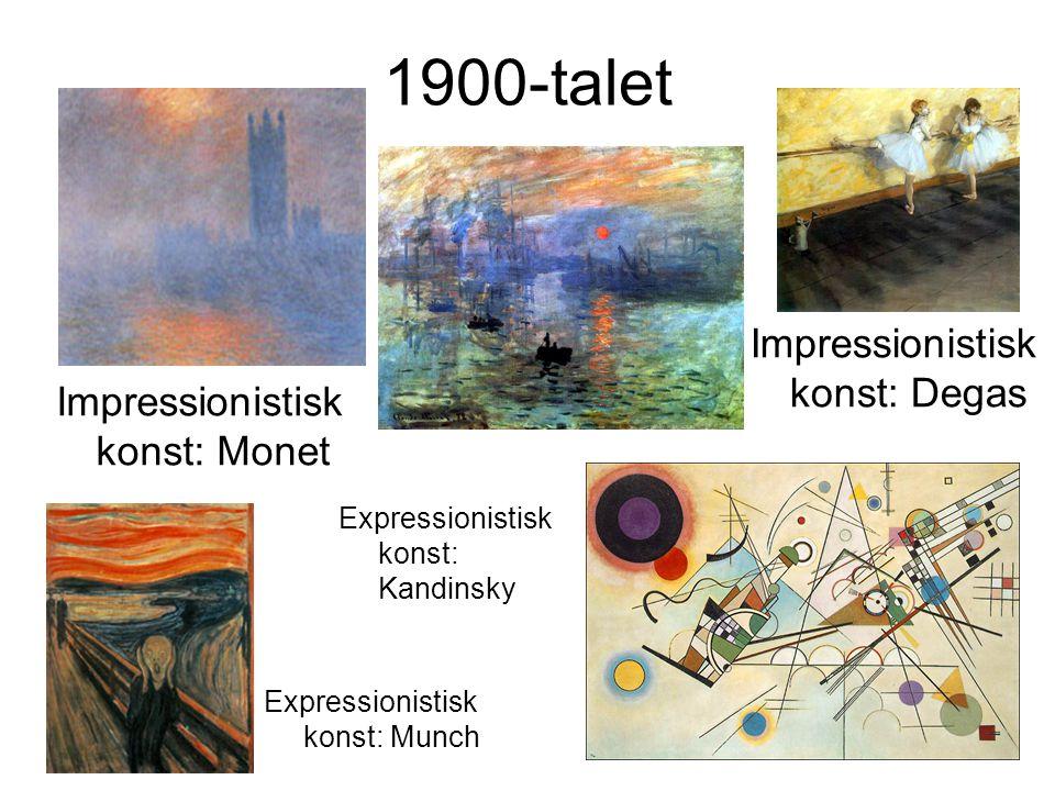 1900-talet Impressionistisk konst: Degas Impressionistisk konst: Monet
