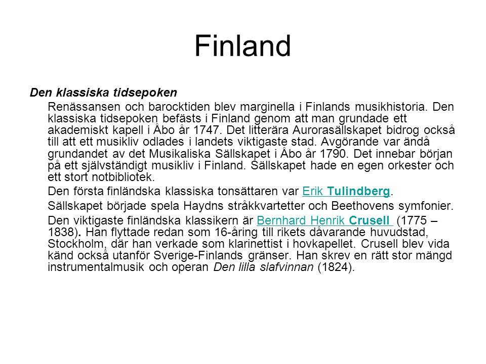 Finland Den klassiska tidsepoken