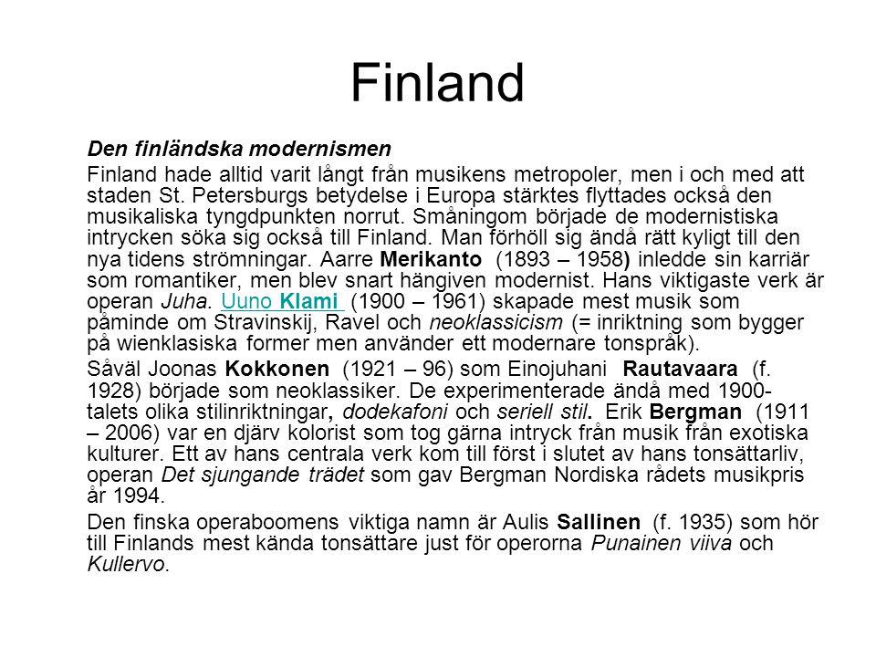 Finland Den finländska modernismen.
